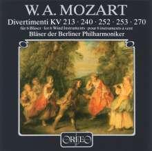 Wolfgang Amadeus Mozart (1756-1791): Divertimenti KV 213,240,252,253,270, CD