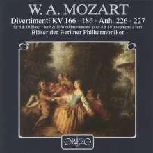 Wolfgang Amadeus Mozart (1756-1791): Divertimenti KV 166 & 186, CD