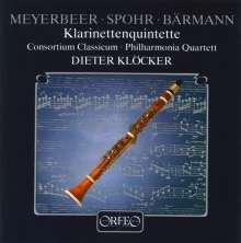 Dieter Klöcker - Klarinettenquintette, CD