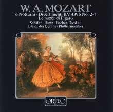 Wolfgang Amadeus Mozart (1756-1791): 6 Terzette (Notturni) f.2 Soprane & Baß (120 g), LP