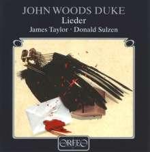 John Woods Duke (1899-1984): Lieder, CD