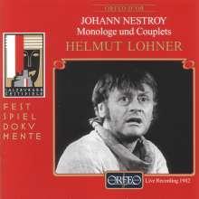 Nestroy,Johann:Monologe & Couplets, CD