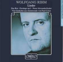 Wolfgang Rihm (geb. 1952): Lieder, CD