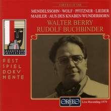 Walter Berry singt Lieder, CD