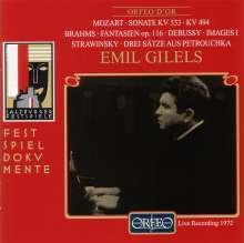 Emil Gilels in Salzburg 17.8.72, CD