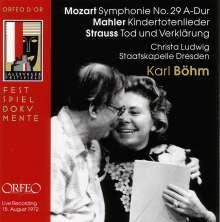 Wolfgang Amadeus Mozart (1756-1791): Symphonie Nr.29, CD