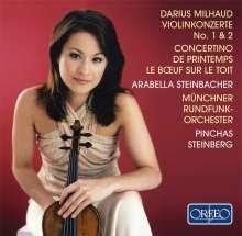 Darius Milhaud (1892-1974): Violinkonzerte Nr.1 & 2, CD