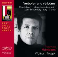 Thomas Hampson - Verboten und verbannt, CD