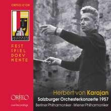 Herbert von Karajan - Salzburger Orchesterkonzerte 1957, 4 CDs