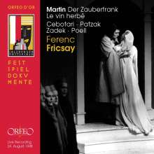 "Frank Martin (1890-1974): Oratorium ""Le Vin Herbe"" (Der Zaubertrank), 2 CDs"