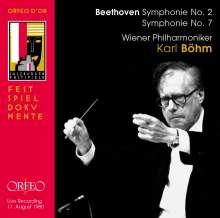 Ludwig van Beethoven (1770-1827): Symphonien Nr.2 & 7, CD