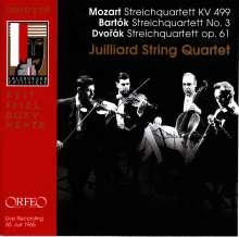 Juilliard String Quartet - Mozart / Bartok / Dvorak, CD