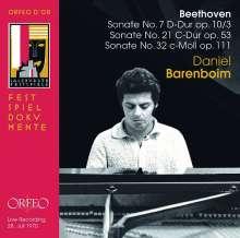 Ludwig van Beethoven (1770-1827): Klaviersonaten Nr.7,21,32, CD
