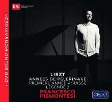 Franz Liszt (1811-1886): Annees de Pelerinage (1. Jahr: Schweiz), 1 CD und 1 DVD