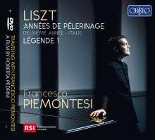 Franz Liszt (1811-1886): Annees de Pelerinage (2. Jahr: Italien), 1 CD und 1 DVD