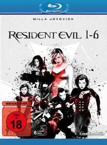 Resident Evil 1-6 (3D & 2D Blu-ray), 6 Blu-ray Discs