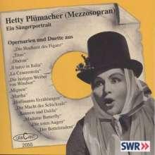 Hetty Plümacher - Ein Sängerportrait, CD