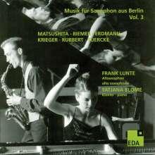 Frank Lunte - Musik für Saxophon aus Berlin Vol.3, CD