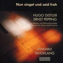 Hugo Distler (1908-1942): Advents- und Weihnachtsmotetten zu drei Stimmen, CD