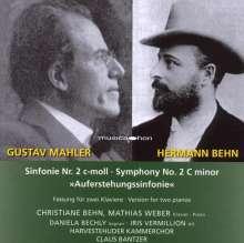 Gustav Mahler (1860-1911): Symphonie Nr.2 (Fassung für 2 Klaviere), CD