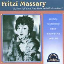 Fritzi Massary: Warum soll eine Frau kein Verhältnis haben, CD