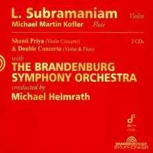 Lakshminarayanan Subramaniam (geb. 1947): Shanti Priya für indische Violine,Percussion & Orchester, 2 CDs