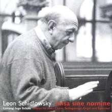 Leon Schidlowsky (geb. 1931): Misa Sine Nomine, CD