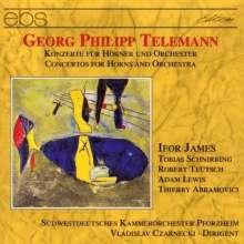 Georg Philipp Telemann (1681-1767): Konzerte f.1,2,3 oder 4 Hörner, CD