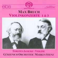 Max Bruch (1838-1920): Violinkonzerte Nr.1 & 3, Super Audio CD