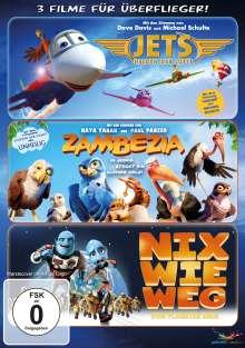 3 Filme für Überflieger: Jets / Zambezia / Nix wie weg, 3 DVDs