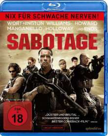 Sabotage (2014) (Blu-ray), Blu-ray Disc