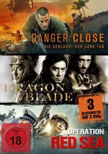 Danger Close / Dragon Blade / Operation Red Sea, 3 DVDs