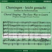Chorsingen leicht gemacht: Bach, Messe h-moll BWV 232 (Bass), 2 CDs
