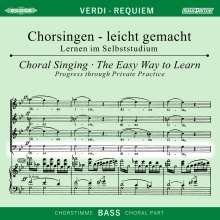 Chorsingen leicht gemacht:Verdi,Requiem (Bass), 2 CDs