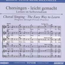 Chorsingen leicht gemacht:Rossini,Petite Messe Solennelle (Tenor), CD