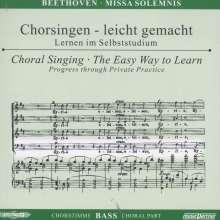 Chorsingen leicht gemacht:Beethoven,Missa Solemnis (Bass), 2 CDs