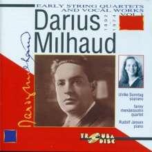 Darius Milhaud (1892-1974): Streichquartette Nr.1 & 2, CD