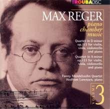 Max Reger (1873-1916): Klavierquartette op.113 & 133, CD