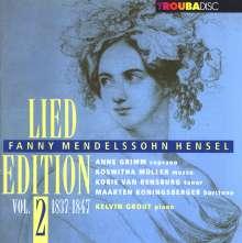 Fanny Mendelssohn-Hensel (1805-1847): Lied Edition Vol.2 (1837-1847), CD