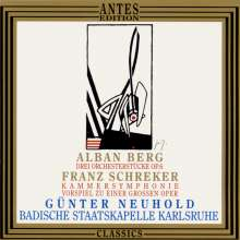 Franz Schreker (1878-1934): Kammersymphonie für 23 Soloinstrumente, CD