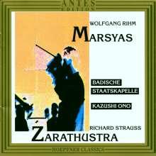 """Wolfgang Rihm (geb. 1952): """"Marsyas"""" - Szene für Trompete,Schlagzeug,Orchester, CD"""
