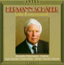 Hermann Schäfer (geb. 1927): Sonate für Violine & Klavier Nr.2, CD