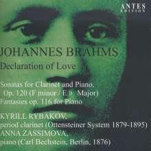 Johannes Brahms (1833-1897): Sonaten für Klarinette & Klavier op.120 Nr.1 & 2, CD