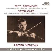Fritz Leitermeyer (1925-2006): Konzert für Violine & Bläser op.21, CD