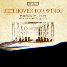 Ludwig van Beethoven (1770-1827): Symphonie Nr.7 (Fass.f.9 Bläser 1816), CD