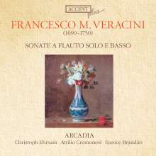 Francesco Maria Veracini (1690-1768): Sonaten Nr.1-6 f.Flöte & Bc, CD