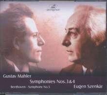 Gustav Mahler (1860-1911): Symphonien Nr.3 & 4, 3 CDs