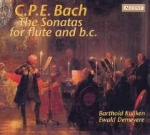 Carl Philipp Emanuel Bach (1714-1788): Flötensonaten Wq.123-131,133,134, 2 CDs