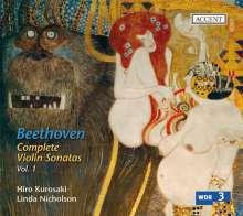 Ludwig van Beethoven (1770-1827): Sämtliche Werke für Violine & Klavier Vol.1, CD