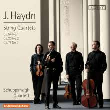 Joseph Haydn (1732-1809): Streichquartette Nr.32,57,74 (op.20 Nr.2,op.54 Nr.1,op.74 Nr.3), CD